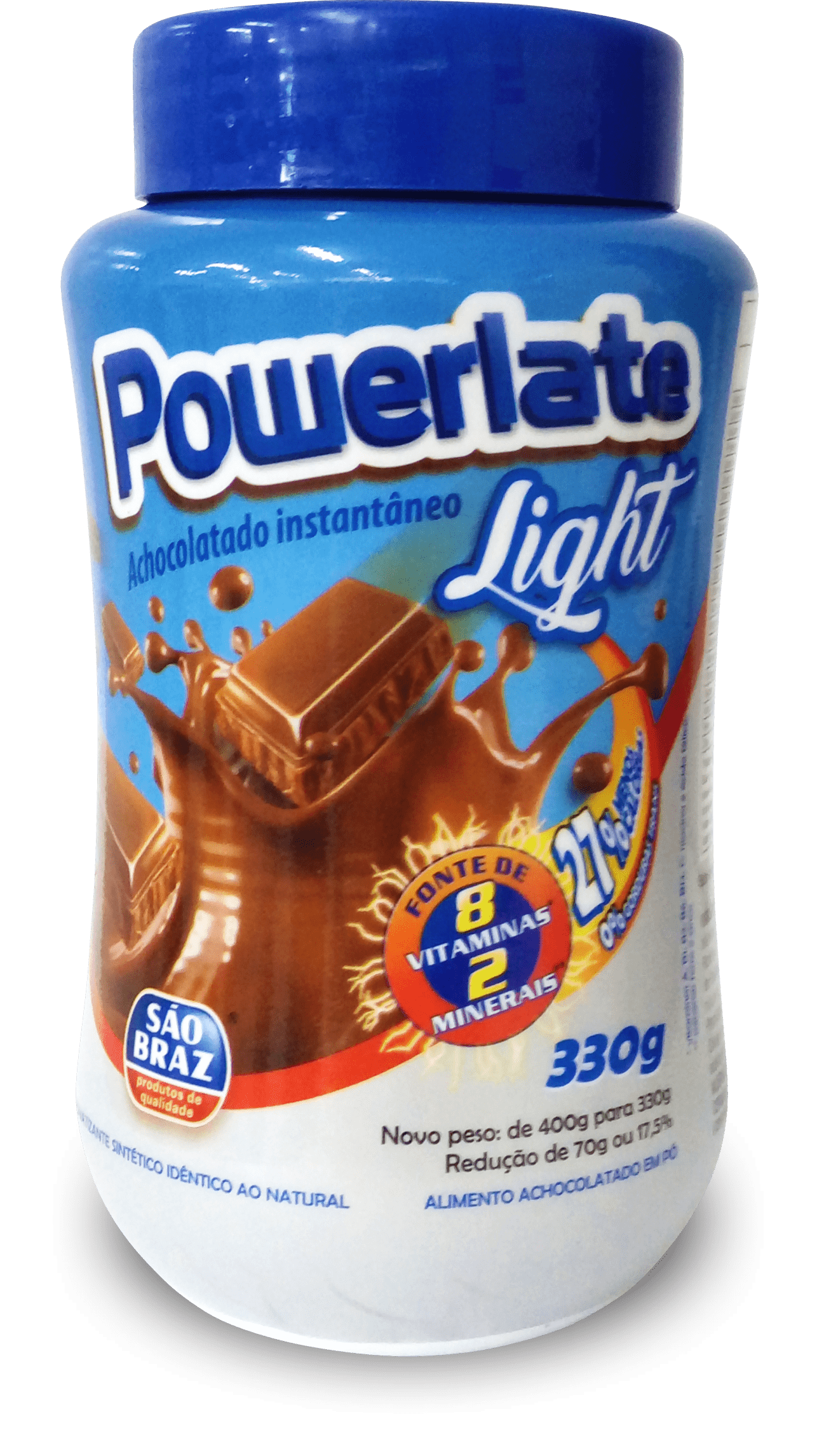 Powerlate Light 400g, Pote Plástico
